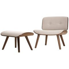 Moooi Nut Lounge Chair and Ottoman by Marcel Wanders in Fabric or Leather