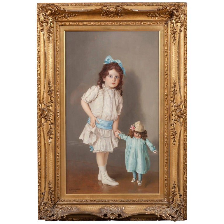 20th Century Figure Painting of 'Her First Steps' by Charles Spencelayh