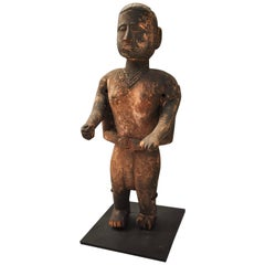 Wood Carved Statue Tharu People Southern Nepal, Early-Mid 20th Century.