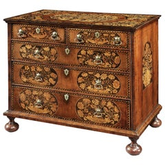William and Mary Marquetry Chest of Drawers with Floral Marquetry