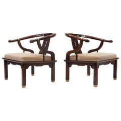 Pair of Mid-Century Asian Style Ming Lounge Chairs by Century Furniture