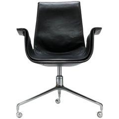 Jorgen Kastholm & Preben Fabricius Swivel Tulip Desk Chair, Alfred Kill