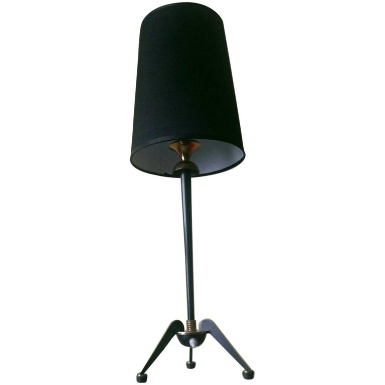 French Mid-Century Modern Bronze Table Lamp by Maison Jansen, 1950s