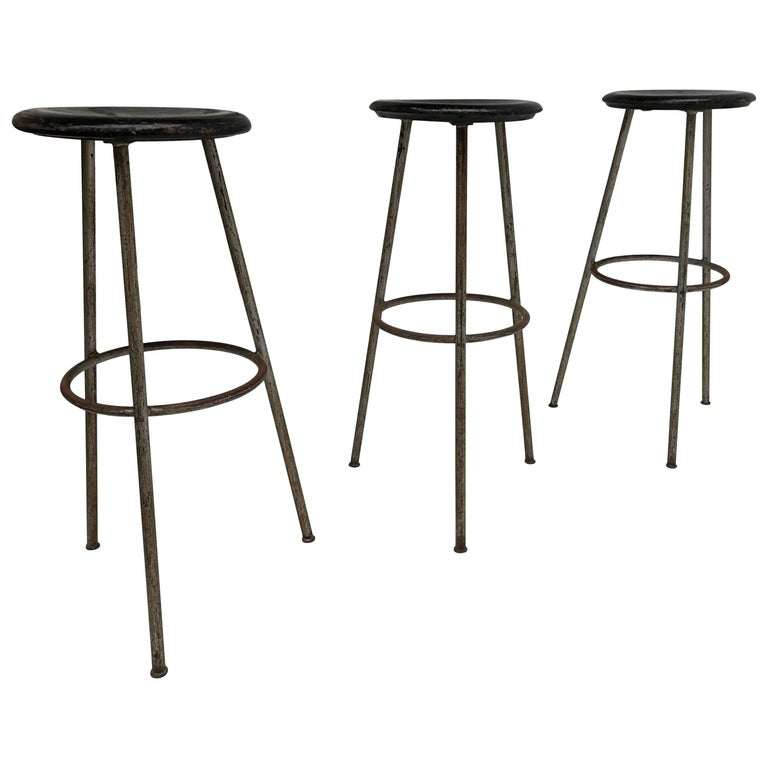 1950s Swiss Industrial Confection Atelier Tripod Working / Bar Stools