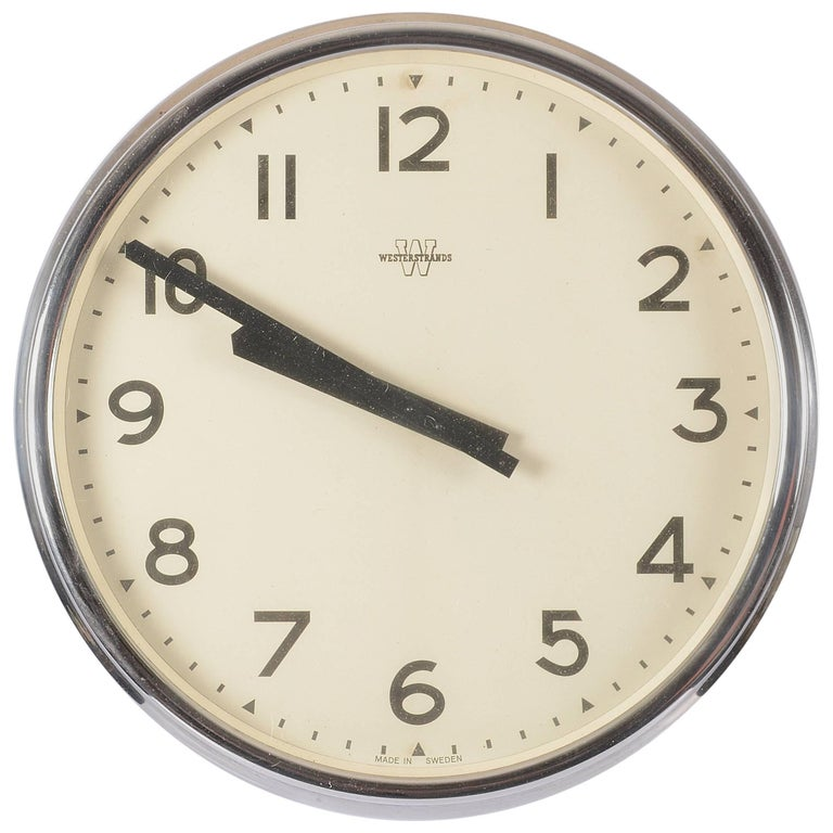Huge Office or Workshop Westerstrands Wall Clock