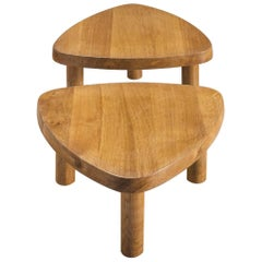 Pierre Chapo Side Tables in Solid Elm