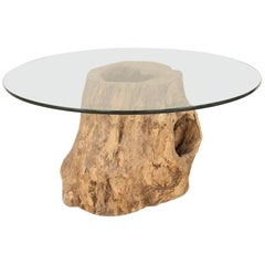 Rustic Adirondack Style Large Tree Trunk Base Dining Table