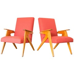"Pair of Lina Bo Bardi ""Tridente"" Chairs in Pau Marfim, Brazil early 1950s"