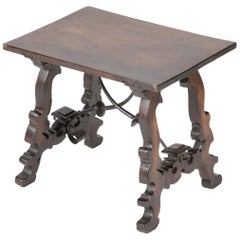Italian Baroque Walnut Side Table