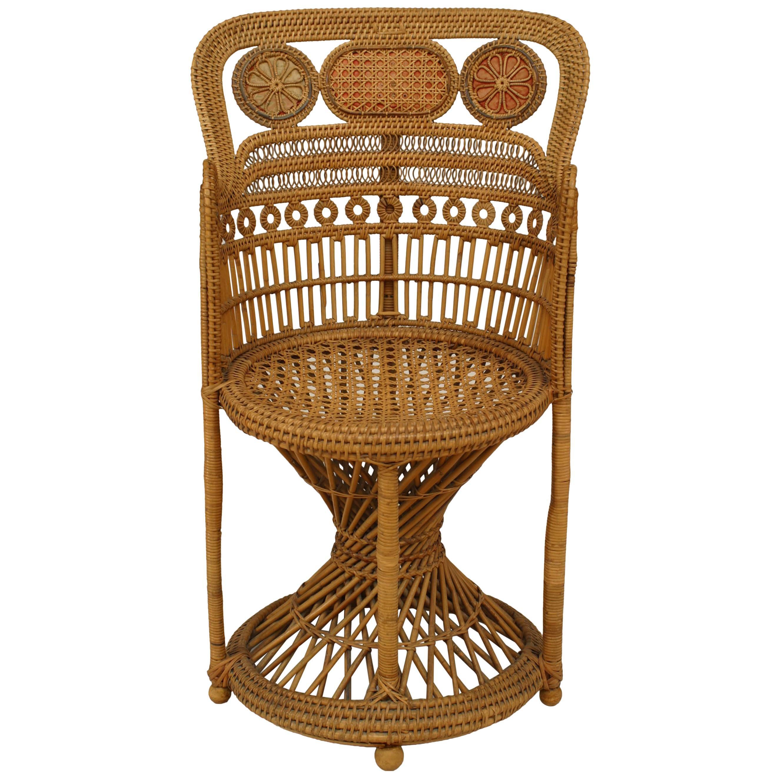 English Regency Style, '19th Century' Brighton Design Wicker Armchair