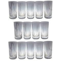 Set of 14 Baccarat Harmonie Crystal Highball Glasses