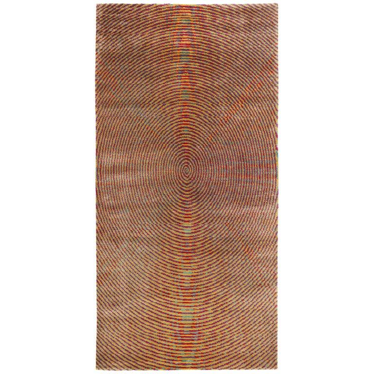 Silk Area Rug With Botanical Dye By Carini 3x6