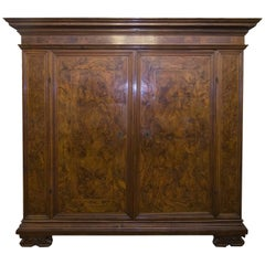 18th Century Italian Venetian Walnut and Burr Walnut Armoire, circa 1750