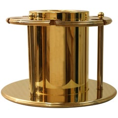 Turnwald Collection Gold Plated Champagne Cooler with Chrystal Bottle Stop
