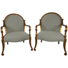 Pair of Rose Tarlow Melrose House Verona Armchairs