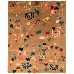 Birds and Trees Area Rug in Wool