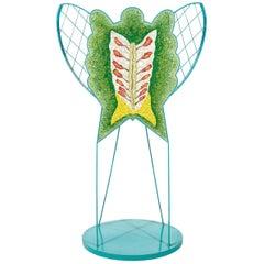 "Ugo La Pietra, ""Foglia"" Butterfly Sculpture, Spilimbergo, Mosaic, Italy"