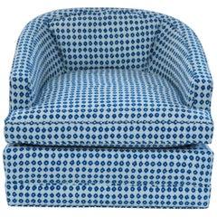 Midcentury Barrel Back Swivel Chair