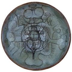 Psychedelic Lucien de Gheus Ceramic Plate, 1969