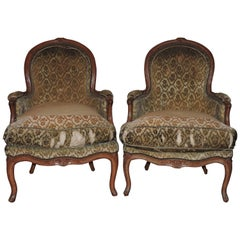 Pair of Epoque Louis XV Bergères