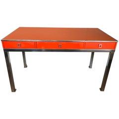 Desk by Guy Lefevre for Maison Jansen, France, 1970s