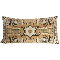 Custom Pillow Cut from a Vintage Velvet Coat Rack Textile, Netherlands