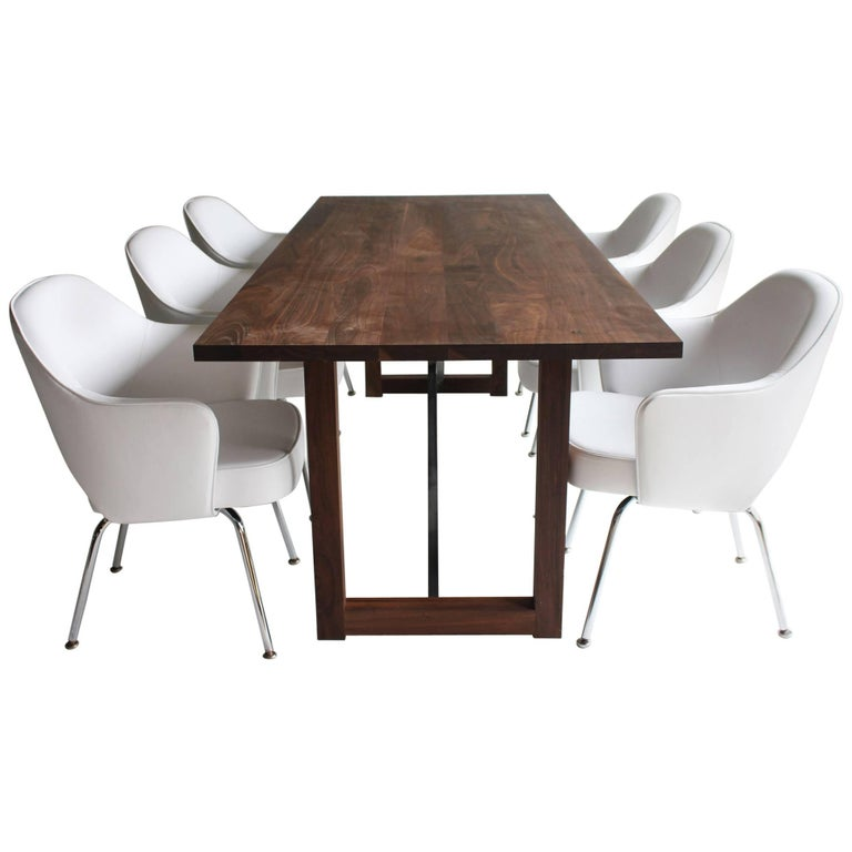 Modern Walnut Dining Table For