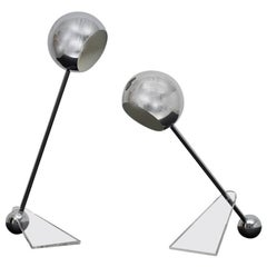 Dumbbell Lamps, to Be Attributed, circa 1980