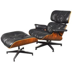 2nd Generation Eames Lounge Chair and Ottoman by Herman Miller, 1950-1960