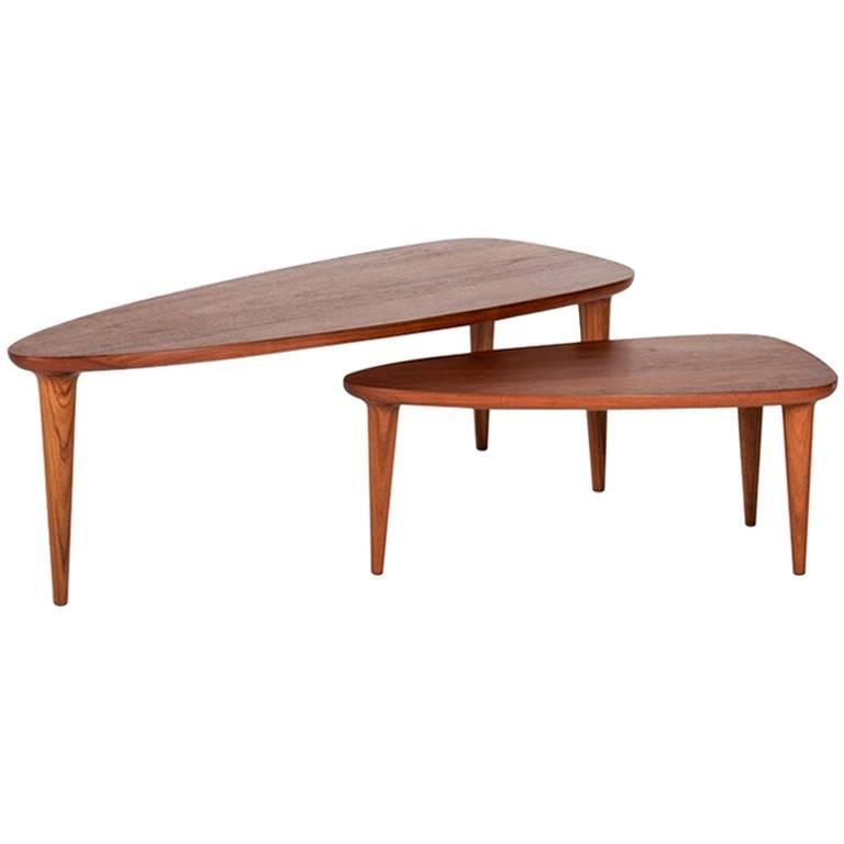 Tikin Tropical Wood Coffee Table Set For Sale At 1stdibs