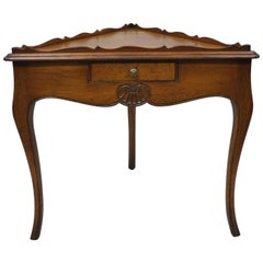 Meldan Furniture Country French Louis XV Style Triangle Game Accent Side Table