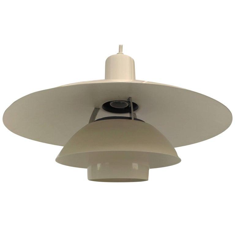 1970s PH 4 1/2-4 Metal Pendant Lamp by Poul Henningsen for Louis Poulsen For Sale