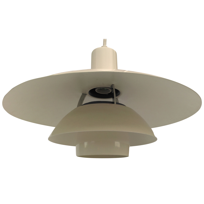 1970s PH 4 1/2-4 Metal Pendant Lamp by Poul Henningsen for Louis Poulsen
