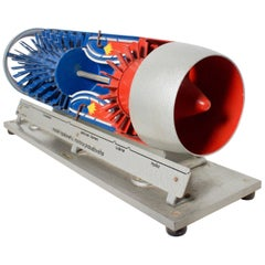 Old Russian Jet Engine Teaching Model, 1950s
