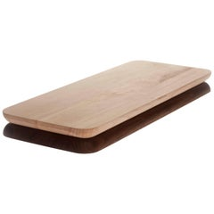 Contemporary Rectangular Wood Serving Tray Chopping Serve Board, USA, In Stock