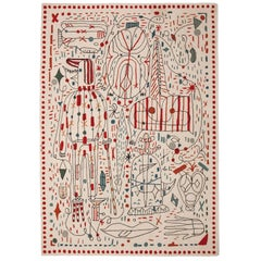Contemporary Hayon X Nani Hand-Tufted Wool Rug by Jaime Hayon in Stock