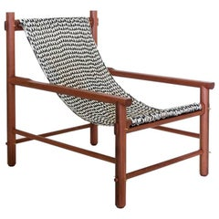 K'áan Armchair in Machiche 'Black Cabbagebark' Tropical Wood contemporary design