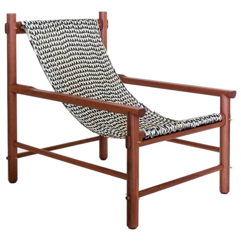 K'áan Armchair in Machiche 'Black Cabbagebark' Tropical Wood contemporary design For Sale