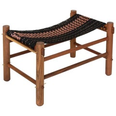K'áan Ottoman in Tropical Wood. Mexican Contemporary Design