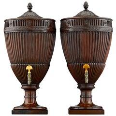Georgian Mahogany Urns
