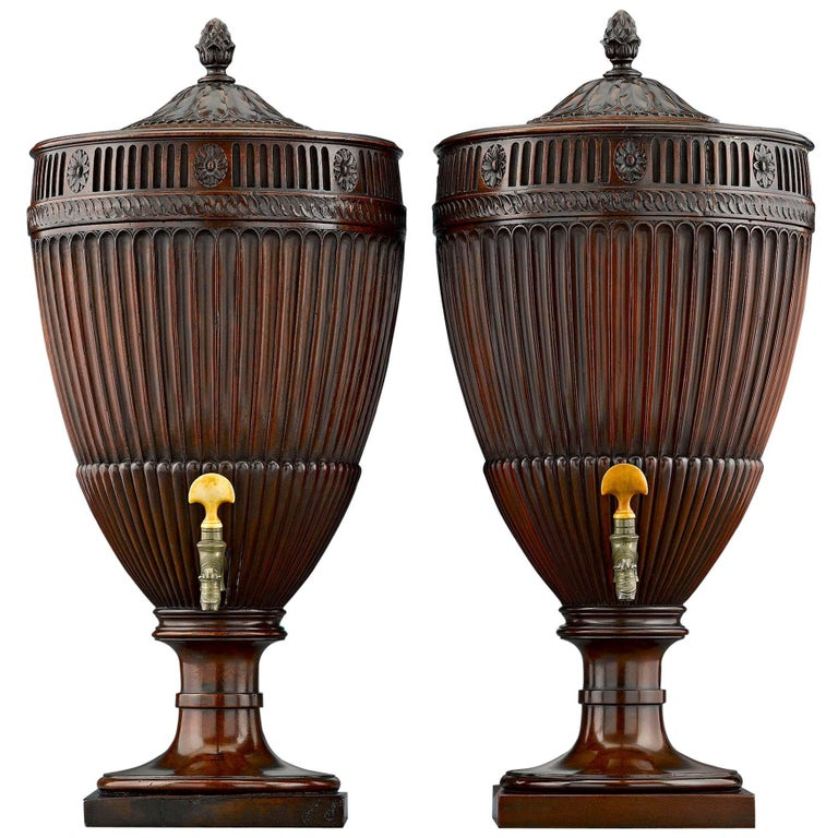 Georgian Mahogany Urns For Sale