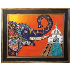 Mixed-Media Mosaic Framed Wall Art