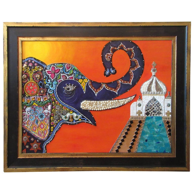 Mixed-Media Mosaic Framed Wall Art For Sale