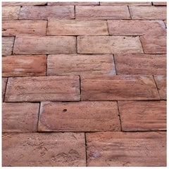 Authentic Provence a Lot of 2350sf 19th Century French Rose Terra Cotta Flooring