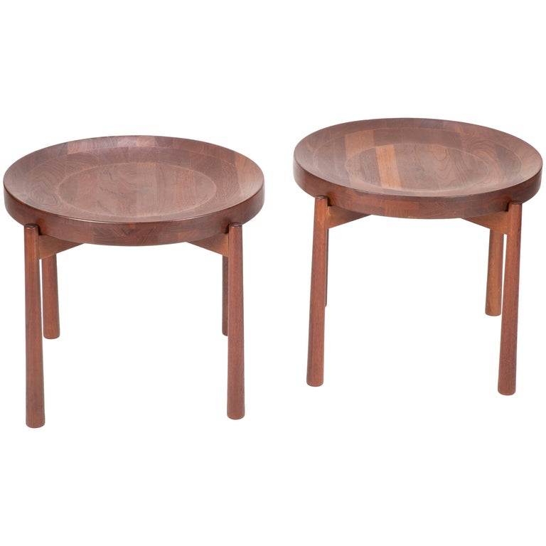 Pair of Midcentury Teak Side Tables, style of  Jens Quistgaard for DUX