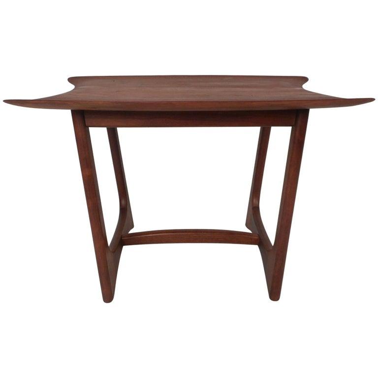 unique mid century modern sculpted end table by craft associates for sale - Unique End Tables