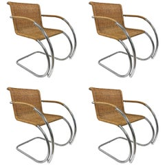Set of Four Ludwig Mies van der Rohe MR20 Chairs