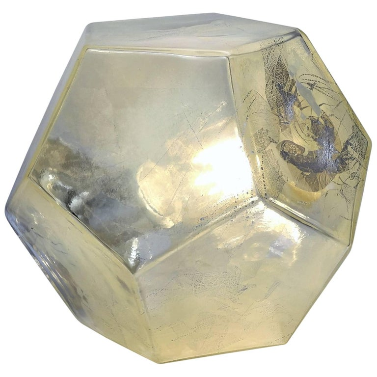 Hedron Series Tadpole Table Light, Modern Handmade Glass Lighting For Sale