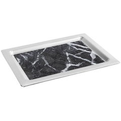 Dual Tray Carnico Marble and Silver - In Stock