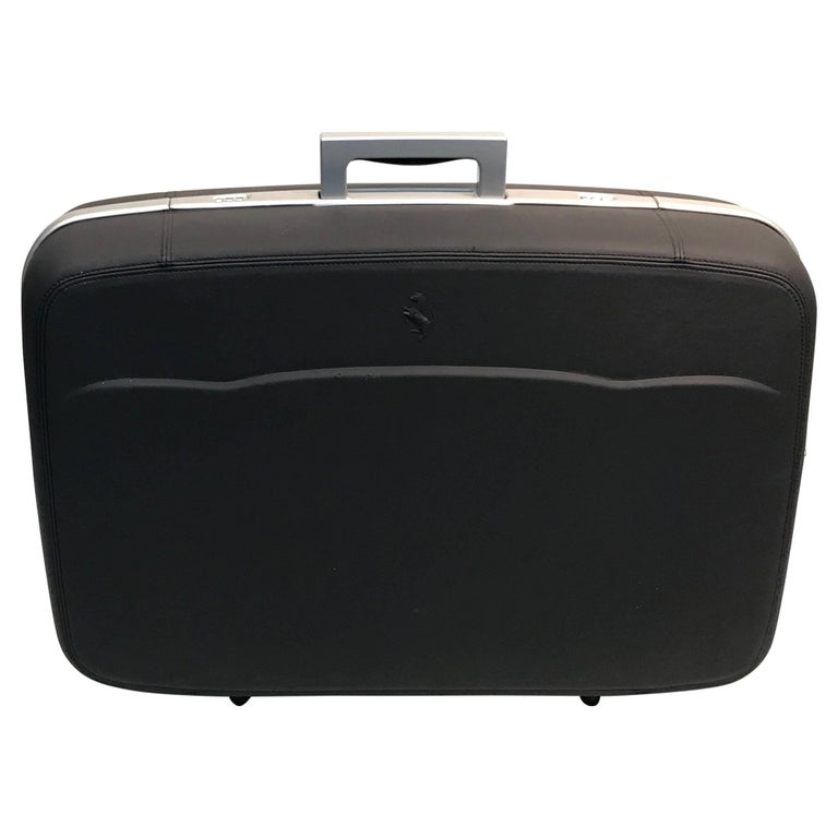 Ferriari Leather  Travel Case Grey Leather For Sale